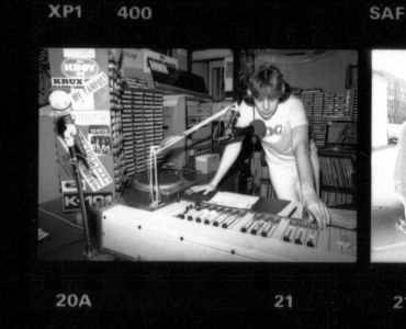 Jed The Fish KROQ control room 1982
