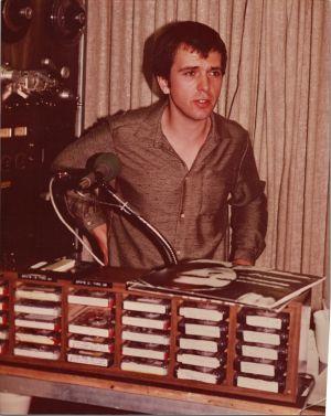 Peter Gabriel at KROQ Pasadena in 1982