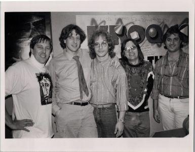 Warren Zevon with Jed The Fish, cir.1980