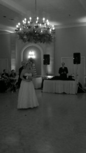 Bride and Groom sharing their first dance as husband and wife