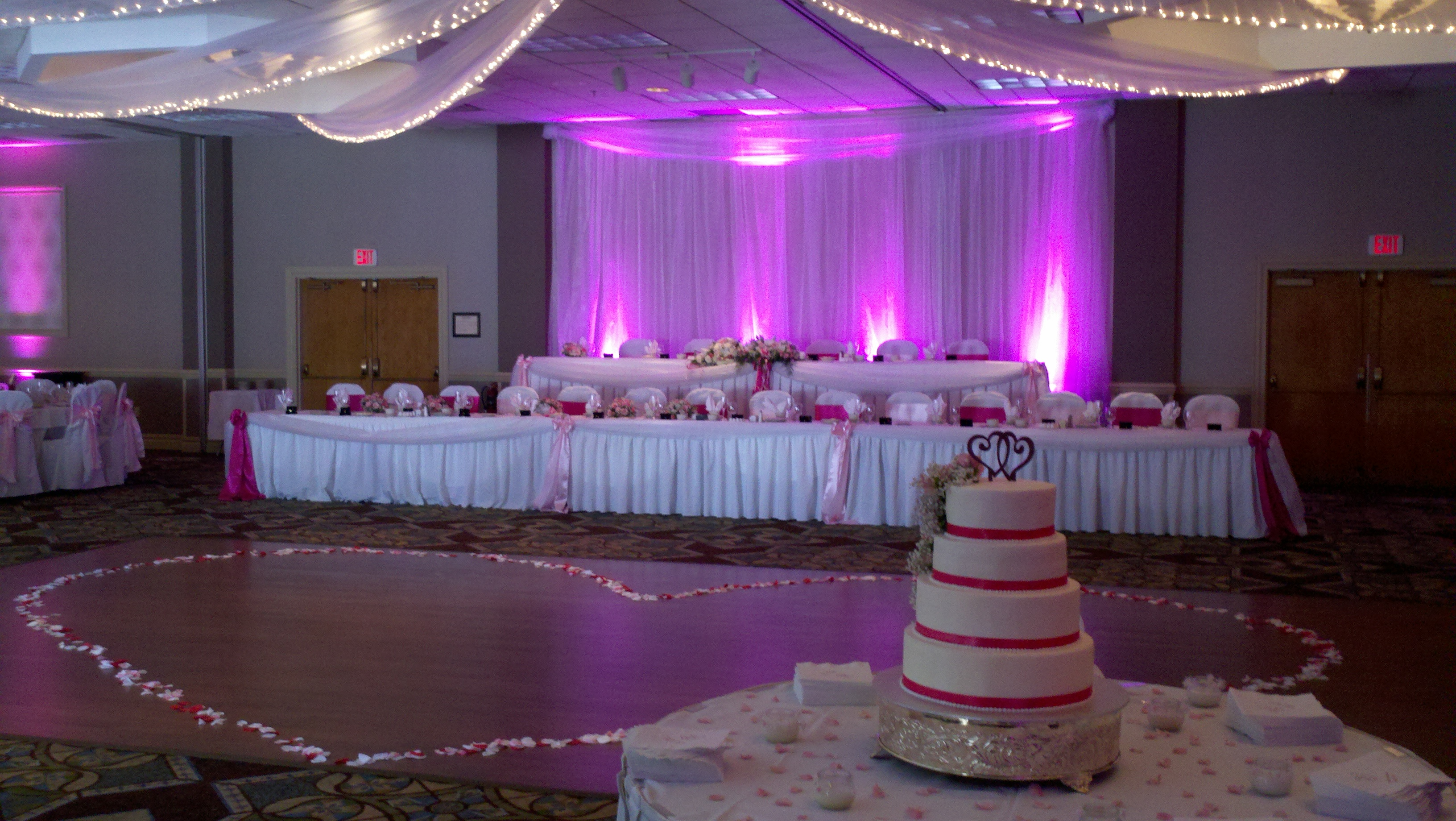 Uplights For A Wedding Reception At The Mckinley Holiday Inn Arena