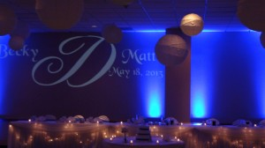 Wedding Day Monogram with Uplights