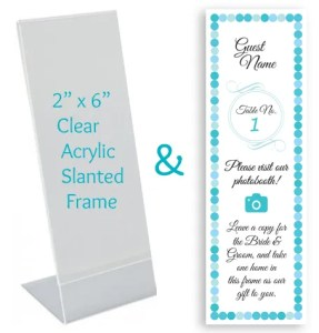 photobooth custom-place-card-insert-and-frame