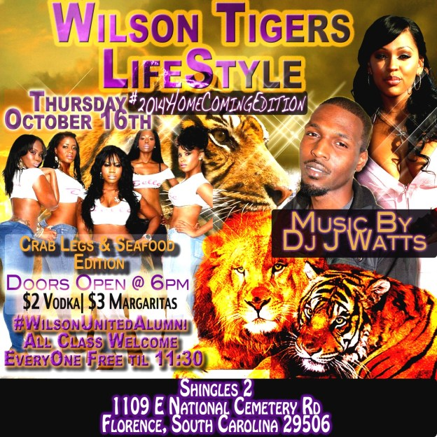 Wilson Homecoming LifeStyle Jumpoff @ Shingles 2 Florence, SC #Thursday Oct. 16