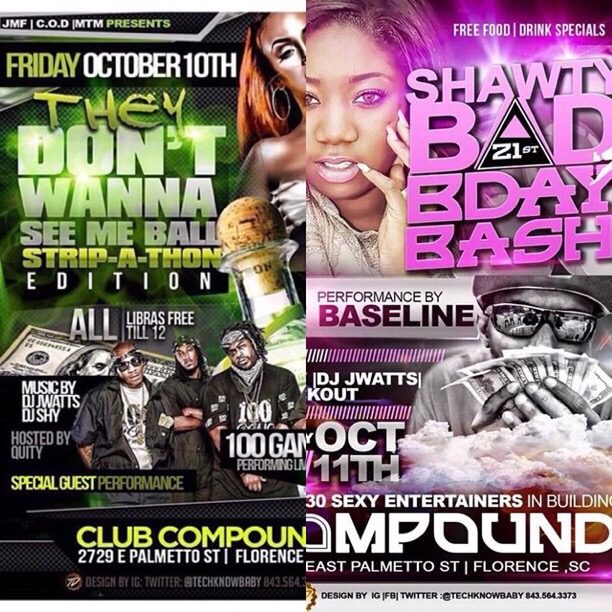 Next Week Double Header Club Compound