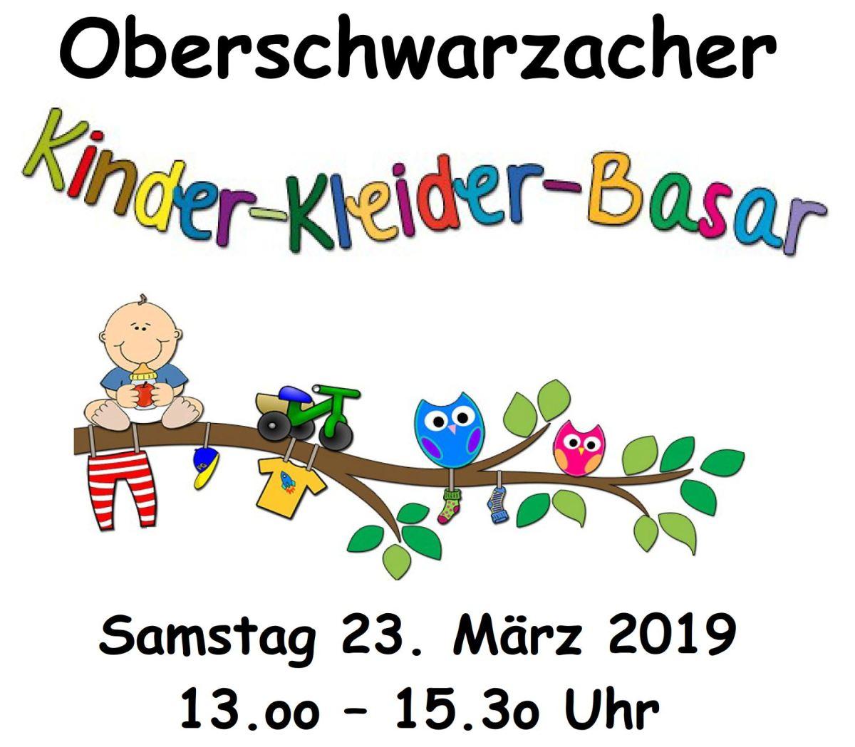 Schnäppchen - 5. Oberschwarzacher Kinder-Kleider-Basar – Samstag 23. März