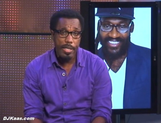 Scene from the Winford Williams interview with Tarrus Riley
