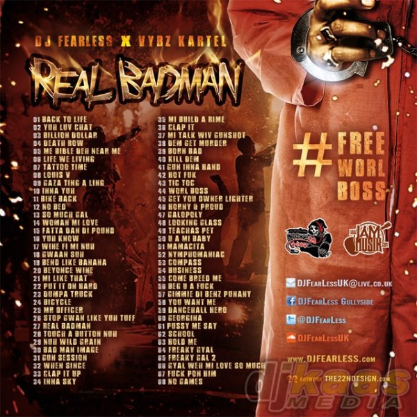 DJ FearLess - Vybz Kartel - Real Badman Mixtape - Back