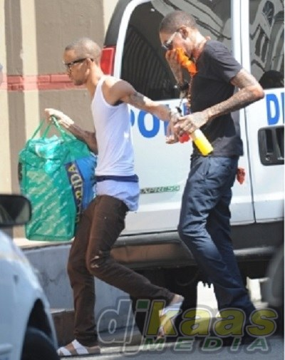 Vybz Kartel Arrives at Court March 27 2014 sentence put off April 3