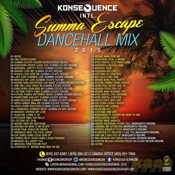 CD Cover- Summa Escape Dancehall 2015_Side 2