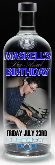 DJ Maskell birthday pop at ultrabar nightclub washington dc