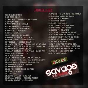 DJ S-Jude Savage The Mixtape tracklist