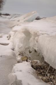 Frozen ice on the water - Picton, Ontario