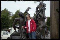 't Zand Square Fountain - Bruges, Belgium - August 2008