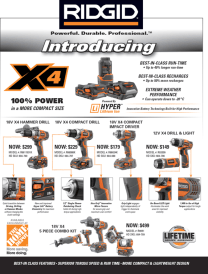 Flyer Example - Home Depot Spring Advertisement