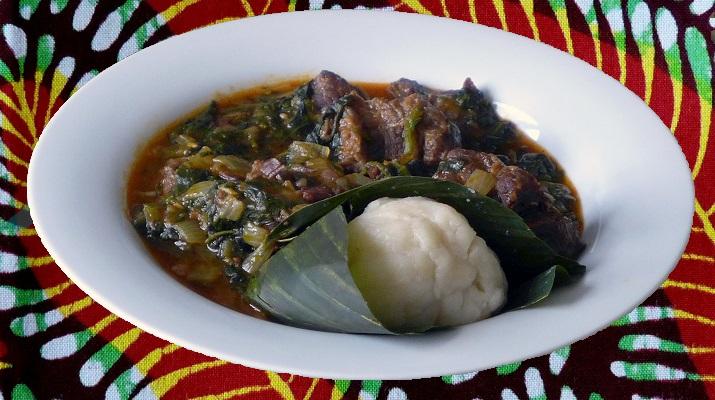 Gboma Dessi viande togo recette togolaise akoumé sauce épinard djolo