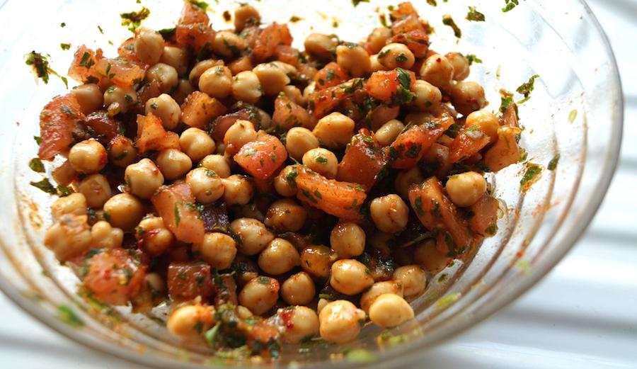 Salade de pois chiches à la marocaine djolo cuisine