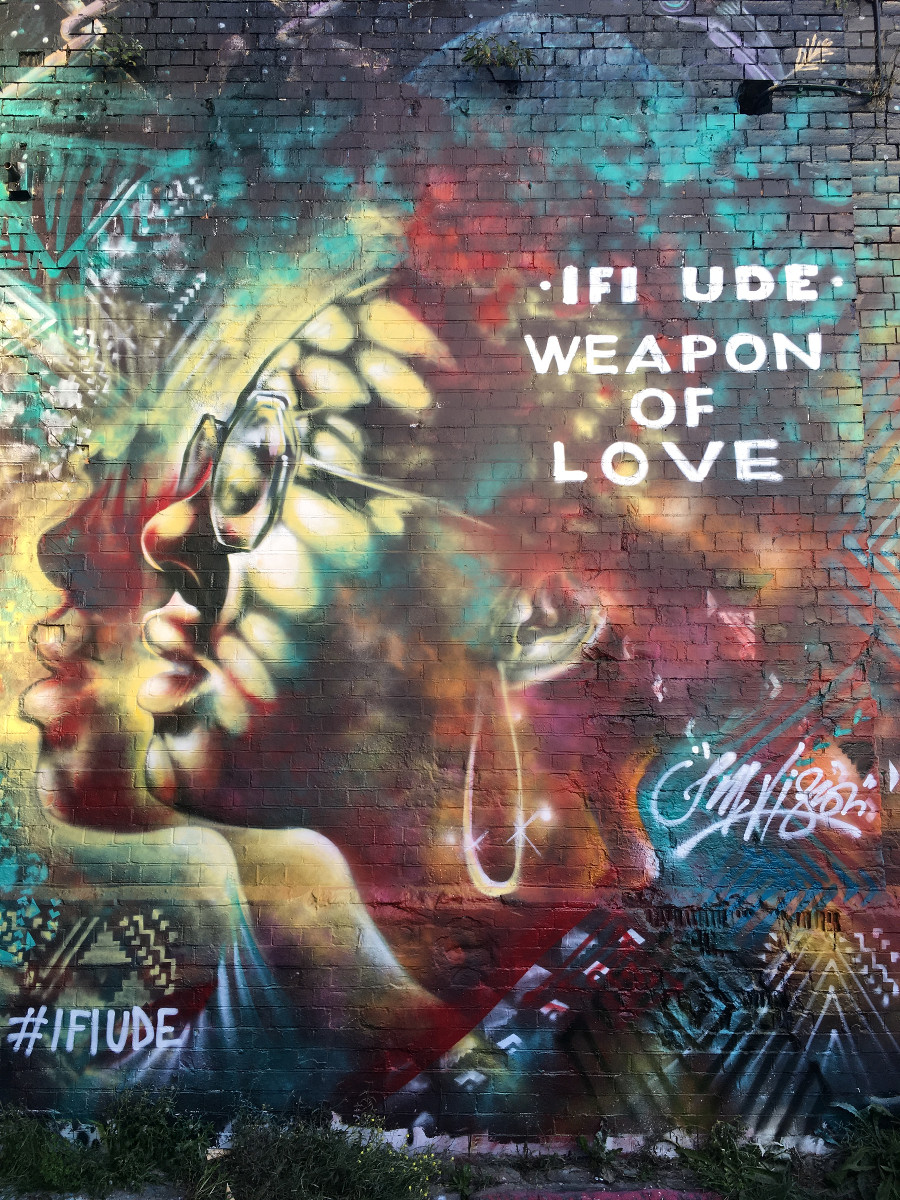 Ifi Ude, fresque 1, Jim Vision, Weapon of Love