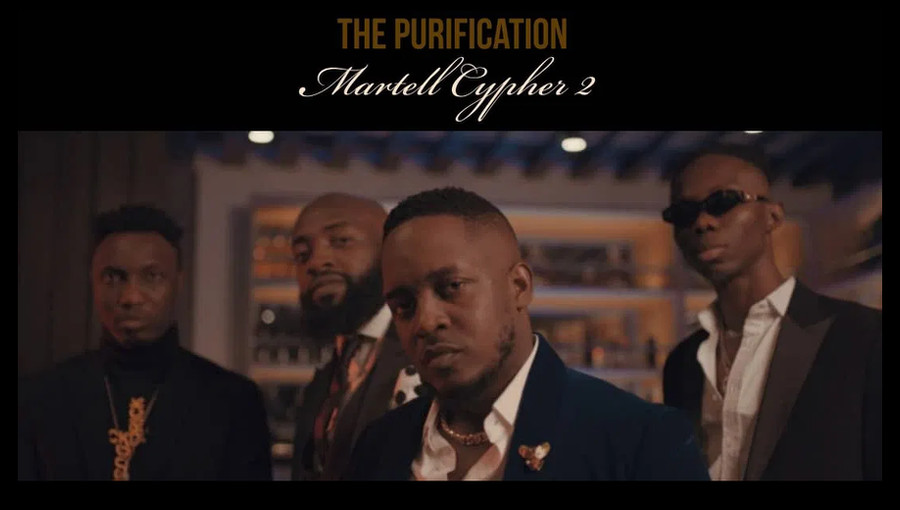 Martell Cypher 2, The Purification, M.I, M.I Abaga, Blaqbonez, loose kaynon, A-Q, rap nigérian, rap, cypher, marque de cognac