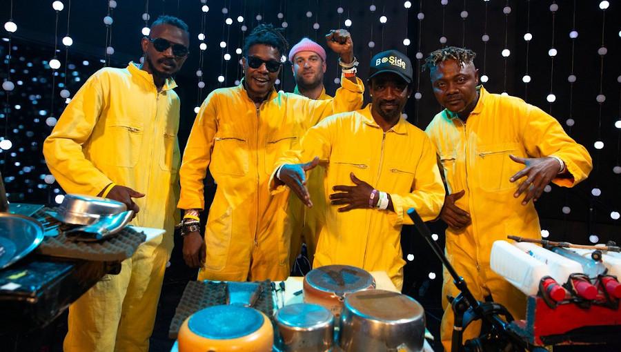 Kokoko!, Live, musique congolaise, techno congolaise, techno analogique, Debruit, live at KEXP, NPR, Tiny Desk Concert
