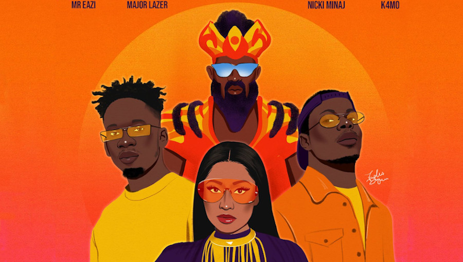 Mr Eazi, Major Lazer, nicki Minaj, K4mo, Oh My Gawd, Dance Video, Patience J, dancehall, reggae, edm, nouveau titre, nouvel EP, Something Else, Black Uhuru