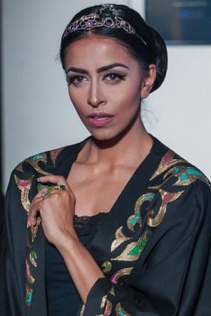Model Karishma wears Deconstructed Sunflower ring and Gaudi Tiara