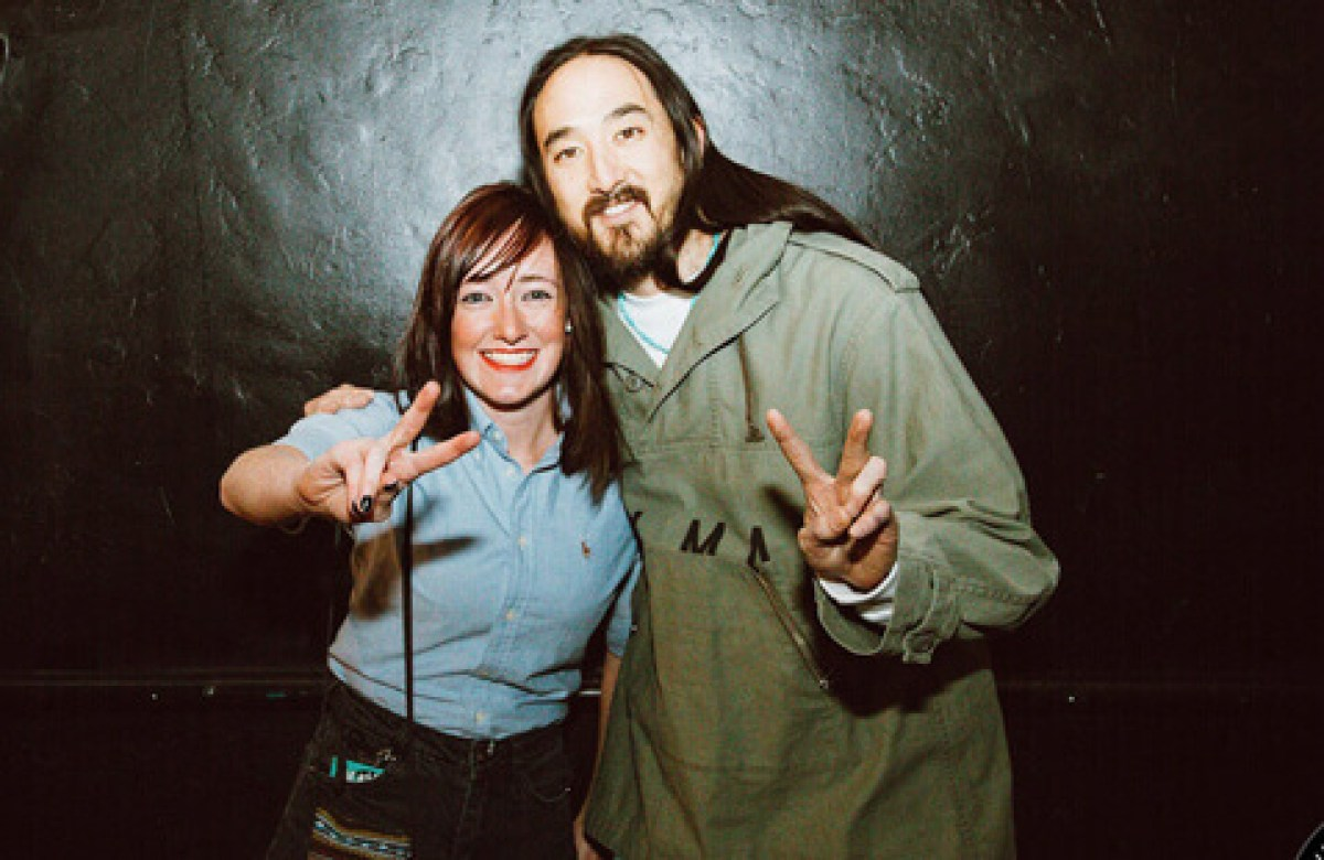 With Steve Aoki in New Mexico 2018