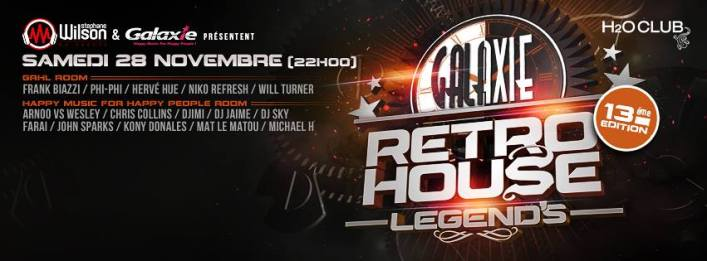 phi phi @ galaxie retro house party @ H2O 28/11/15
