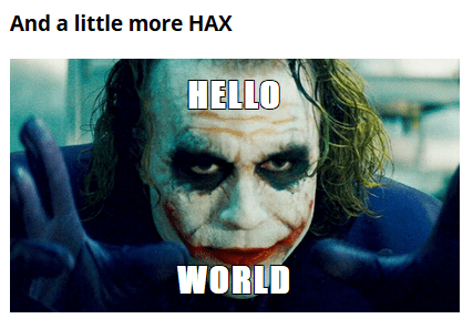 Joker Hello World