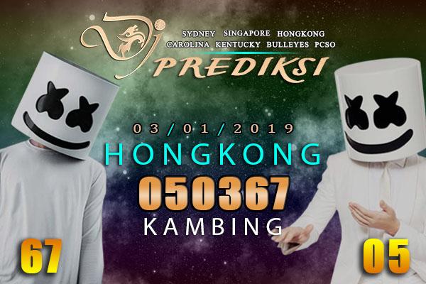 Prediksi Togel HONGKONG 3 Januari 2019