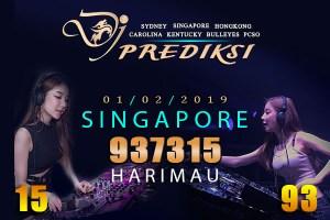 Prediksi Togel SINGAPORE 1 Februari 2019 Hari Jumat