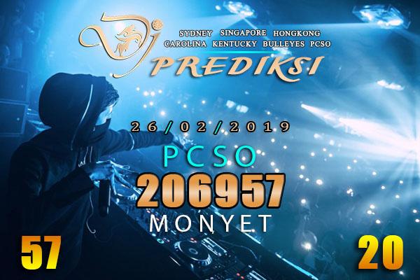 Prediksi Togel PCSO 26 Februari 2019 Hari Selasa