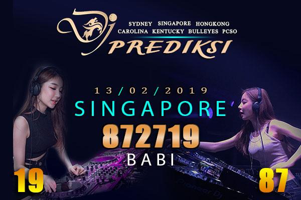 Prediksi Togel SINGAPORE 13 Februari 2019 Hari Rabu