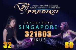 Prediksi Togel SINGAPORE 21 Februari 2019 Hari Kamis