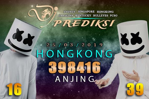 Prediksi Togel HONGKONG 25 Maret 2019 Hari Senin