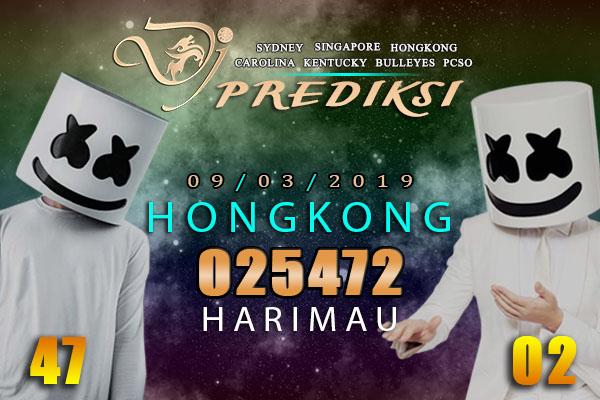 Prediksi Togel HONGKONG 9 Maret 2019 Hari Sabtu