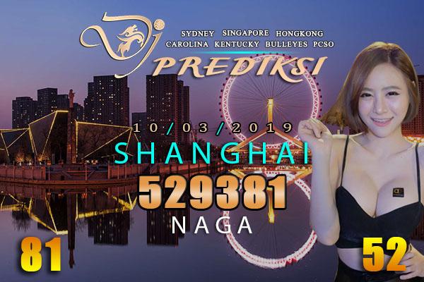 Prediksi Togel SHANGHAI 10 Maret 2019 Hari Minggu