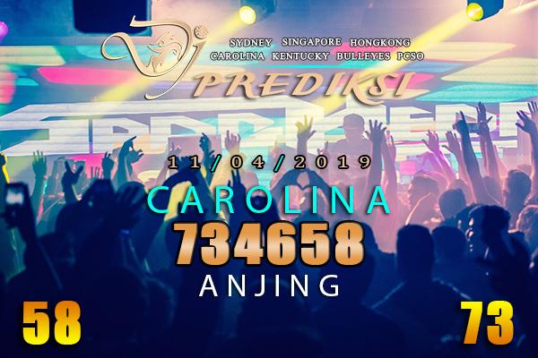 Prediksi Togel CAROLINA 11 April 2019 Hari Kamis