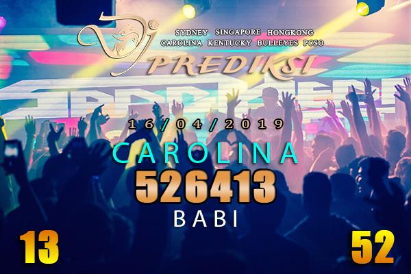 Prediksi Togel CAROLINA 16 April 2019 Hari Selasa