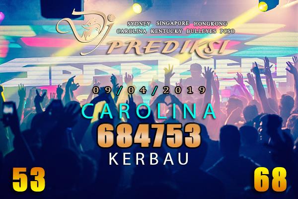 Prediksi Togel CAROLINA 9 April 2019 Hari Selasa