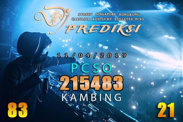 Prediksi Togel PCSO 11 April 2019 Hari Kamis