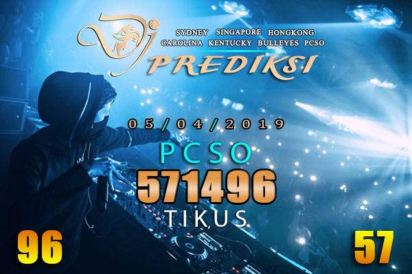 Prediksi Togel PCSO 5 April 2019 Hari Jumat