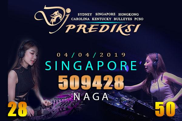 Prediksi Togel SINGAPORE 4 April 2019 Hari Kamis