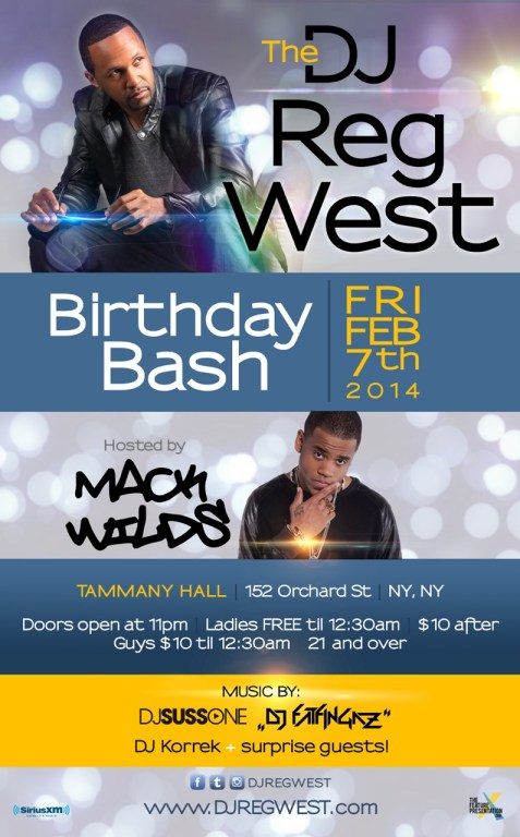 DJ Reg West B-Day Flyer 2014 FULL