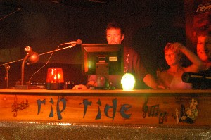 Picture of Dave and Kimi at their DJ table