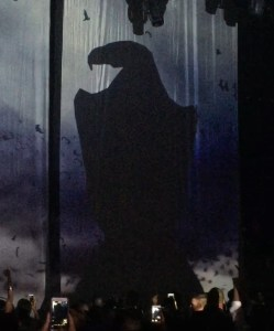 Janet has adopted the black eagle as a symbol of her resilience for the new Unbreakable album and world tour.