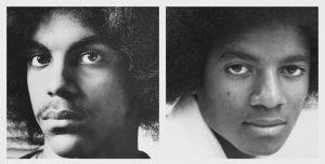 Prince (left) and Michael Jackson