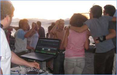 Presto Entertainment DJ throwing a party at Spanish Banks