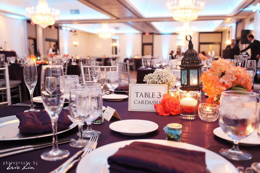 Teal Uplights the Hills Hotel Wedding