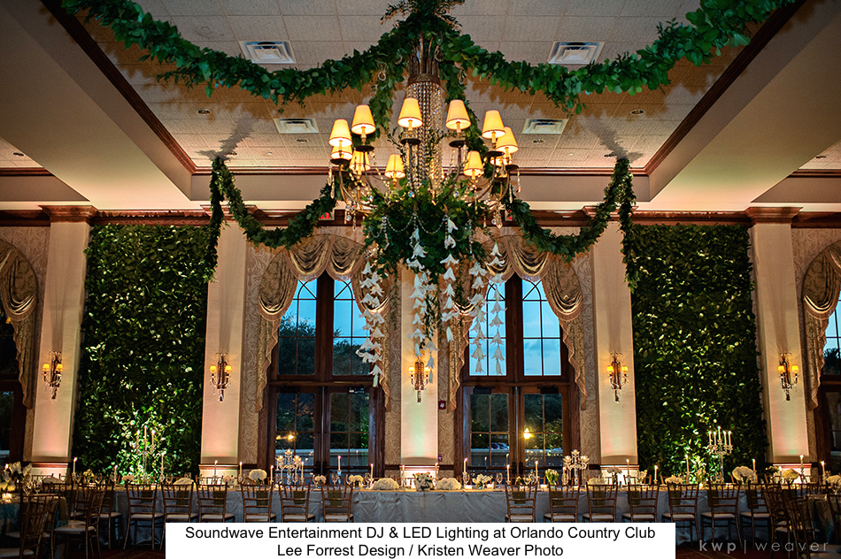 Country Club Of Orlando Soundwave Entertainment Wedding Djs Led Lighting Design Orlando
